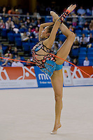 Aliya Garayeva (AZE) performs with the rope during the final of the 2nd Garantiqa Rythmic Gymnastics World Cup held in Debrecen, Hungary. Sunday, 07. March 2010. ATTILA VOLGYI