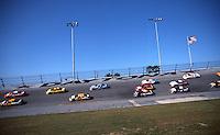 Turn 4 action, Daytona 500, Daytona International Speedway, Daytona Beach, FL, February 18, 2001.  (Photo by Brian Cleary/ www.bcpix.com )