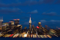 Empire State Building from Weehawken in New Jersey March 27, 2013. Photo by Eduardo Munoz Alvarez / VIEWpress.