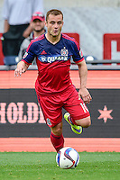 Bridgeview, IL. - May 9, 2015:  Real Salt Lake defeats the  Chicago Fire by the score of 2-1 in a MLS game at Toyota Park.