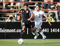 Shea Salinas of Earthquakes in action during the game against Whitecaps at Buck Shaw Stadium in Santa Clara, California on April 7th, 2012.  San Jose Earthquakes defeated Vancouver Whitecaps, 3-1.