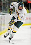 18 October 2009: University of Vermont Catamount defenseman Kyle Medvec, a Junior from Burnsville, MN, in action during the first period against the Boston College Eagles at Gutterson Fieldhouse in Burlington, Vermont. The Catamounts defeated the Eagles 4-1 to open Vermont's America East hockey season. Mandatory Credit: Ed Wolfstein Photo