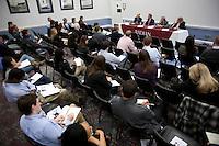 Slug: Radian/ Rayburn Panel Discussion.Date:  2012 - 02 - 10.Photographer: Mark Finkenstaedt.Location:  B369 Rayburn House Office Building, Washington, DC.Caption:  Radian Panel Discussion on the condition of the mortgage industry.