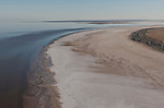 Aerial - Lake Eyre National Park, southern end of Lake Eyre North