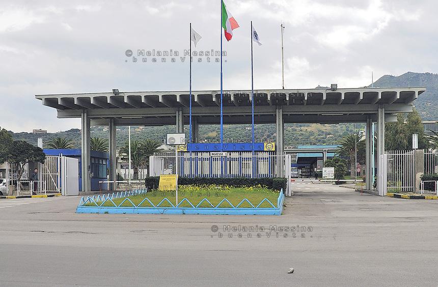 Fiat factory in Termini Imerese, Sicily.<br /> Lo stabilimento Fiat di Termini Imerese