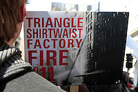 Triangle WaistShirt Fire 100th Anniversary Commeration held in New York City
