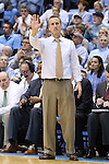 18 January 2014: Boston College head coach Steve Donahue. The University of North Carolina Tar Heels played the Boston College Eagles in an NCAA Division I Men's basketball game at the Dean E. Smith Center in Chapel Hill, North Carolina. UNC won the game 82-71.