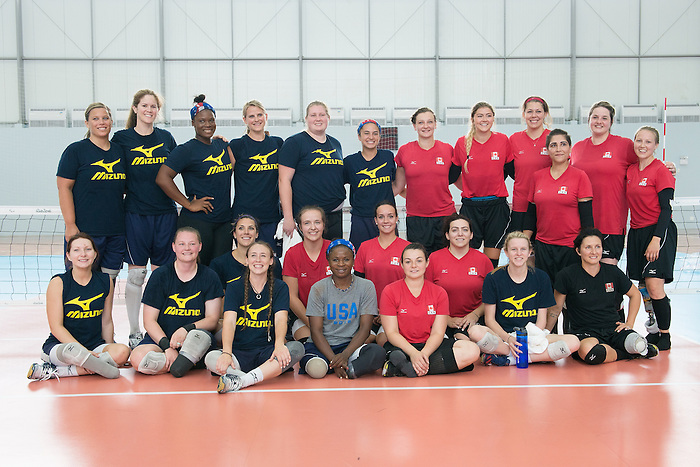 RIO DE JANEIRO - 6/9/2016:  Canada's Womens Sitting Volleyball team plays a practice match vs Team USA at the Paralympic Village at the Rio 2016 Paralympic Games. (Photo by Matthew Murnaghan/Canadian Paralympic Committee