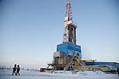 Achimgaz's drilling well in Novy Urengoi, Arctic Siberia, Russia. Achimgaz is a joint-venture between Germany's BASF Wintershall and Russia's Gazprom. Photo by photographer Justin Jin.