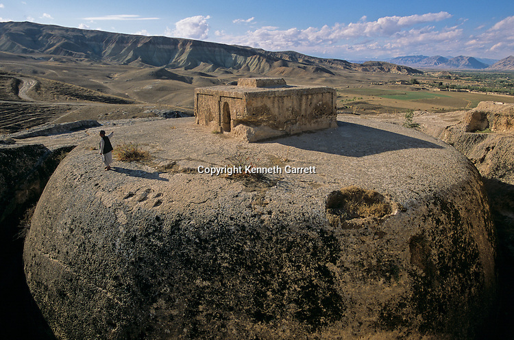 Takht-i-Rustam, Afghanistan, remains of Buddhist temple , Kushan period, 4th century AD