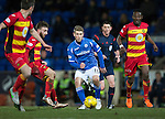St Johnstone v Partick Thistle&hellip;02.03.16  SPFL McDiarmid Park, Perth<br />David Wotherspoon passes the ball to Graham Cummins who drags his shot wide<br />Picture by Graeme Hart.<br />Copyright Perthshire Picture Agency<br />Tel: 01738 623350  Mobile: 07990 594431