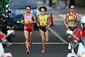 (L to R) Ryoko Kizaki (JPN), Yoshimi Ozaki (JPN), Mara Yamauchi (GBR), NOVEMBER 20, 2011 - Marathon : The 3rd Yokohama Women's Marathon in Kangawa, Japan. (Photo by AJPS/AFLO SPORT) [0006]