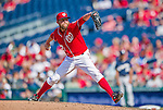 23 August 2015: Washington Nationals pitcher Drew Storen on the mound against the Milwaukee Brewers at Nationals Park in Washington, DC. The Nationals defeated the Brewers 9-5 in the third game of their 3-game weekend series. Mandatory Credit: Ed Wolfstein Photo *** RAW (NEF) Image File Available ***