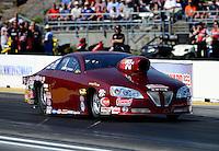 May 18, 2012; Topeka, KS, USA: NHRA pro stock driver Warren Johnson during qualifying for the Summer Nationals at Heartland Park Topeka. Mandatory Credit: Mark J. Rebilas-