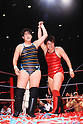 (L-R) Lioness Aska, Chigusa Nagayo, MAY 6, 1989 - Pro Wrestling : All Japan Women's Pro-Wrestling event, Chigusa Nagayo's Retirement Match at Yokohama Arena in Kanagawa, Japan. (Photo by Yukio Hiraku/AFLO)