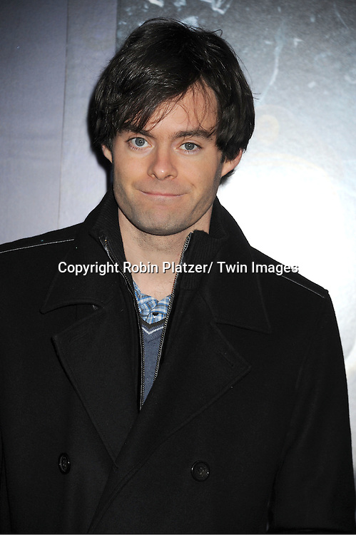 """Bill Hader attends The US Premiere of """" The Adventures of TinTin""""..on December 11, 2011 at The Ziegfeld Theatre in New York City."""