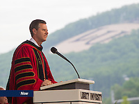 President Jerry Falwell, Jr. speaks at Liberty University's Commencement on May 11, 2013.
