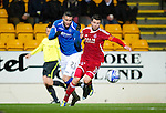 St Johnstone v Aberdeen...13.12.11   SPL .Marcus Haber and Richie Foster.Picture by Graeme Hart..Copyright Perthshire Picture Agency.Tel: 01738 623350  Mobile: 07990 594431