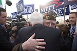 Senator John  McCain greeting voters at a polling station the day of the New Hampshire Primary, Nashua, New Hampshire, January 8, 2008.
