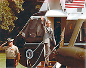 United States President Jimmy Carter waves from the top step of Marine 1 as he prepares to depart the South Lawn of the White House in Washington, D.C. on June 12, 1978.<br /> Mandatory Credit: Bill Fitz-Patrick / White House via CNP