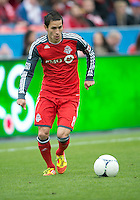 21 April 2012: Toronto FC midfielder Eric Avila #8 in action during a game between the Chicago Fire and Toronto FC at BMO Field in Toronto..The Chicago Fire won 3-2....