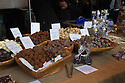 London, UK. 25.10.2014. Hand-made chocolates on a stall at Borough Market, Southwark. Photograph © Jane Hobson.