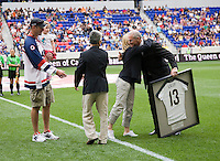 Dave Heavey, Sidney Marie Heavey, Sunil Gulati, Kristine Lilly, Dan Flynn. The USWNT defeated Mexico, 1-0, during the game at Red Bull Arena in Harrison, NJ.
