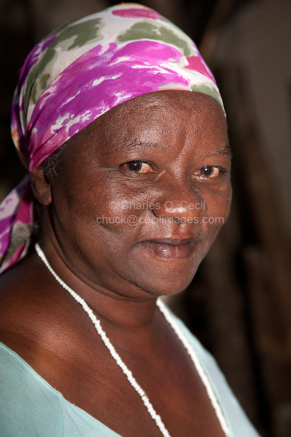 Cuba, Trinidad.  Afro-Cuban Woman Priestess of Afro-Cuban Syncretic Religious Movement.