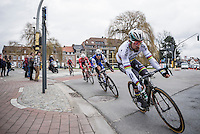 Peter Sagan (SVK/Bora-Hansgrohe) cornering first in the final local lap<br /> <br /> 69th Kuurne-Brussel-Kuurne 2017 (1.HC)