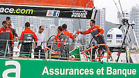 CHINA, Sanya. 4th February 2012. Volvo Ocean Race. Leg 3 Arrivals. Groupama Sailing Team.