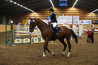 Johanna Nilsson riding Zell Am San (Candento - Excall). <br /> Show jumping in Trolleholm near Eslov in Southern Sweden.<br /> September 2009.<br /> Only for editorial use.