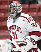 Merrick Madsen (Harvard - 31) - The Harvard University Crimson defeated the visiting Rensselaer Polytechnic Institute Engineers 5-2 in game 1 of their ECAC quarterfinal series on Friday, March 11, 2016, at Bright-Landry Hockey Center in Boston, Massachusetts.