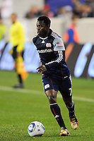 Kenny Mansally (7) of the New England Revolution. The New York Red Bulls defeated the New England Revolution 3-0 during a U. S. Open Cup qualifier round match at Red Bull Arena in Harrison, NJ, on May 12, 2010.
