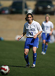 Duke's Lorraine Quinn on Saturday, March 3rd, 2007 on Field 1 at SAS Soccer Park in Cary, North Carolina. The University of Florida Gators played the Duke University Blue Devils in an NCAA Division I Women's Soccer spring game.