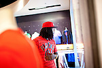Rapper Waka Flocka picks up a pair of Nikes at Lenox Square Mall in Atlanta, Georgia August 17, 2010.