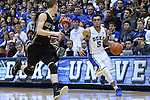 30 November 2014: Duke's Tyus Jones (5). The Duke University Blue Devils hosted the West Point Military Academy Army Black Knights at Cameron Indoor Stadium in Durham, North Carolina in a 2014-16 NCAA Men's Basketball Division I game. Duke won the game 93-73.