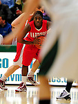26 January 2010: University of Hartford Hawks' guard Daphne Elliott, a Freshman from Fairfield, CT, in action against the University of Vermont Catamounts at Patrick Gymnasium in Burlington, Vermont. The Hawks defeated the Lady Cats 38-36 in a closely matched America East contest. Mandatory Credit: Ed Wolfstein Photo