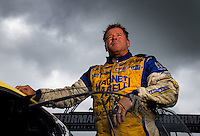 Aug 31, 2014; Clermont, IN, USA; NHRA pro stock driver Allen Johnson during qualifying for the US Nationals at Lucas Oil Raceway. Mandatory Credit: Mark J. Rebilas-USA TODAY Sports