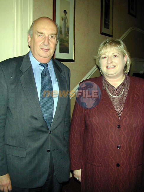 Michael McNamara, Boyne Valley Hotel with Minister sile DeValera..Picture Paul Mohan Newsfile