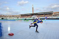 SCHAATSEN: AMSTERDAM: Olympisch Stadion, 02-03-2014, KPN NK Sprint/Allround, Coolste Baan van Nederland, Arjen van der Kieft, ©foto Martin de Jong