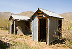 Outhouse at the old gold mine named Ruth, Homewood Canyon, Trona, Calif...