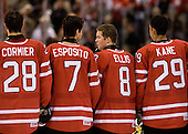 Patrice Cormier (Canada - 28), Angelo Esposito (Canada - 7), Ryan Ellis (Canada - 8), Evander Kane (Canada - 29) - Canada defeated the US 7-4 on Wednesday, December 31, 2008, at Scotiabank Place in Kanata (Ottawa), Ontario during the 2009 World Junior Championship.
