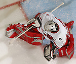 3/3/05  Omaha, NE University of Nebraska at Omaha goalie Eric Aarnio. (photo by Chris Machian/ Prarie Pixel Group)