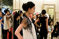 Models are presenting the Valentino collection during the China Fashion Week Automn/Winter 201A. Beijing, March 30 2010.