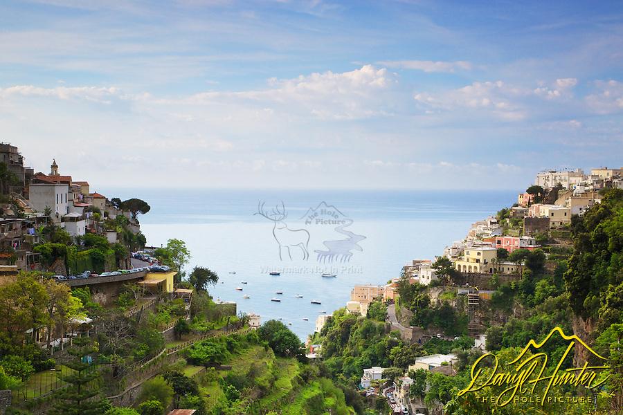 A beautiful day in Positano Italy on the Amalfi Coast.