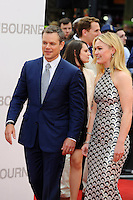 LONDON, ENGLAND - JULY 11: Matt Damon and Julia Stiles attending the 'Jason Bourne' European Premiere at Odeon Cinema, Leicester Square on July 11, 2016 in London, England.<br /> CAP/MAR<br /> &copy;MAR/Capital Pictures /MediaPunch ***NORTH AND SOUTH AMERICAS ONLY***