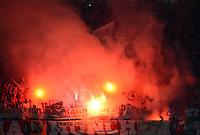 FUSSBALL   SAISON 2011/2012   CHAMPIONS LEAGUE FINALE FC Bayern Muenchen - FC Chelsea  19.05.2012 Bayern Fans verbrennen Pyrotechnik