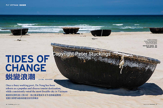 Double page spread for Silk Road magazine, Singapore Airlines