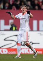 FUSSBALL   1. BUNDESLIGA  SAISON 2012/2013   12. Spieltag 1. FC Nuernberg - FC Bayern Muenchen      17.11.2012 Bastian Schweinsteiger (FC Bayern Muenchen)