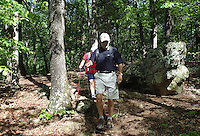 NWA Democrat-Gazette/FLIP PUTTHOFF <br /> Shepherd Springs Loop follows a rocky route April 27, 2016 through the forest.
